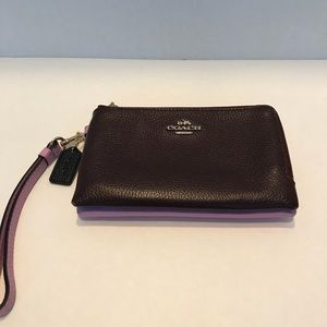 Authentic Coach Wristlet Bag